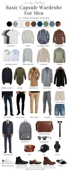 A Basic Year-Round Capsule Wardrobe for Men