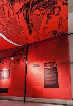 'Mangasia: Wonderlands of Asian Comics' — Story — Pentagram - Top-Trends Museum Exhibition Design, Exhibition Display, Exhibition Poster, Exhibition Space, Design Museum, Exhibition Ideas, Environmental Graphics, Environmental Design, Museum Poster