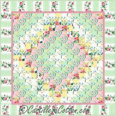 Eight Trip Quilt Pattern - Monet  #wallquiltpattern #castillejacotton #northfabrics #juliasgarden