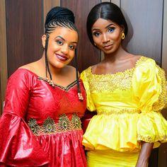 Latest Fashion And Styles: Stylish Nigerian And Malian Bazin Dresses. African Attire, African Wear, African Women, Ghana Fashion Dresses, Fashion Outfits, Mode Du Ghana, Gayo, Africa Dress, Ghanaian Fashion