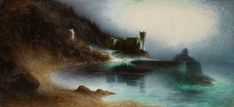 Karl Wilhelm Diefenbach German Painter, Symbolist and Naturalist – Dark Art and Craft San Giacomo, Moonlight Painting, 10 Picture, Old Paintings, Ancient Ruins, Pictures Of You, Landscape Art, Dark Art, Cool Art