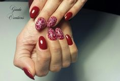 #crystalnails #giadacreations #nailartist #nail #love #passion #for #work #nailartclub #nailartwow #artist #cisiprovasempre #vintage #rosso