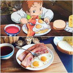 Ghibli Food – This Girl Is Recreating The Food From Miyazaki's Movies Miyazaki, Dorayaki Receta, Asian Recipes, Real Food Recipes, Keto Recipes, Healthy Recipes, Cute Food, Yummy Food, Healthy Food