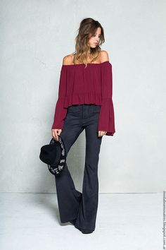 Moda invierno 2016 pantalones oxford 47 Street.