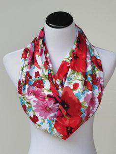 Poppy scarf infinity scarf classic scarf #scarf #accessory #accessories #scarf #poppy #poppyscarf #floral #floralscarf #HappyScarvesByLesya by HappyScarvesByLesya