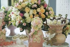 Batizado, festa infantil, festa meninas, girls party, festa rosa, mesa de doces, anjos, espírito santo, batismo, decoração festa infantil, tons pastel, candy color, flores, birdys, pink party