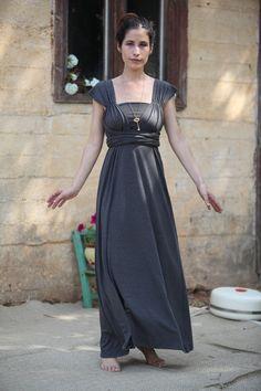 greek wrap dress