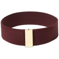 Lauren Ralph Lauren Interlock Stretch Belt ($38) ❤ liked on Polyvore featuring accessories, belts, claret, fat belt, thick belts, wide belt, stretchy belts and stretch belt