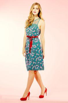 Painted Floral Chiffon Dress £185