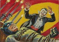 Norm Saunders & Bob Powell - Batman Trading Card Series 3 #13B (Topps 1966) Gouache
