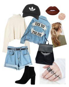 """Outfit - casual"" by oladda on Polyvore featuring moda, Kitsch, Chicnova Fashion, Lime Crime, La Mer, Topshop, Sole Society e MANGO"