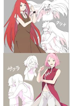 Queens of the Fist and Beautiful Mothers Kushina Uzumaki and Sakura Uchiha ❤️❤️❤️