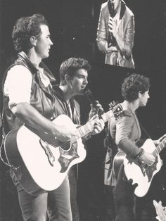 Jonas Brothers playing on stage Jonas Brothers, Hollywood Records, Dream Baby, Nick Jonas, Pretty Eyes, Popular Music, Musical, My Boys, True Love