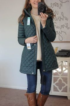 Savana Quilted car coat- Andrew Marc Love this! Great sporty coat- love the color too!