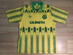 RARE CELTIC #SCOTLAND 1989/1990/1991 #AWAY FOOTBALL SHIRT JERSEY MAGLIA #UMBRO