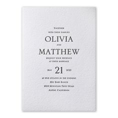 HOW TO CHOOSE THE RIGHT WEDDING INVITATION FONTS. Most people fall into one of two categories when it comes to fonts: those who care too much and those who care too little. If you care too much, you might stress over selecting the perfect fonts that give you just the right look. If you care too little, you may not realize the impact a font can have on your wedding invitation design. Wedding Invitation Trends, Photo Wedding Invitations, Letterpress Wedding Invitations, Printable Wedding Invitations, Invitation Ideas, Wedding Card, Invitation Design, Minimalist Invitation, Minimalist Wedding Invitations