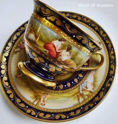 <Request Accessoires> Oostenrijk Wenen maakte alles met de hand geschilderd engelen en godinnen van de kop en schotel - I ~ Rudoobuwanda ~ Zu