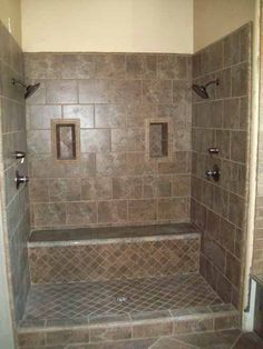 walk in shower with two shower heads - Google Search