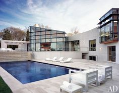 Contemporary Pool by Dineen Architecture + Design and Barnes Coy Architects in East Hampton, New York