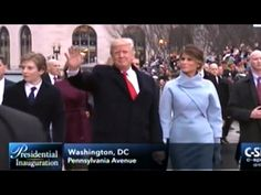 President Donald Trump And Family Walk Parts Of Inaugural Parade Route - YouTube