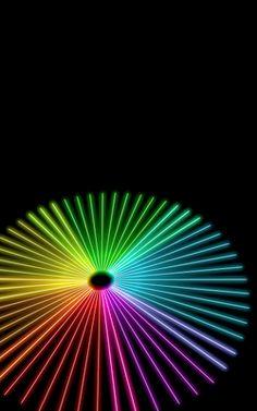 Spiral Rainbow Wallpaper By Fraser Ferguson Star Neon Over The