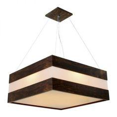 Luminária Lustre Plafon Acrilico Decorativo Madeira