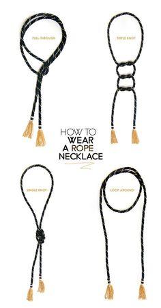 Manière de porter un collier cravate