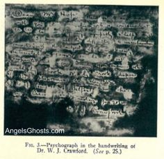 A photo of the psychograph handwriting...