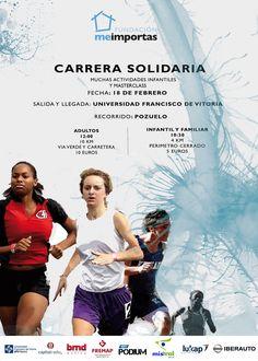 """¡Participa ya en la CARRERA """"ME IMPORTAS"""" POR LAS PERSONAS SIN HOGAR! Con la colaboración de la Universidad Francisco de Vitoria.  INSCRIPCIONES AQUÍ: www.bit.ly/carrerafundacionmeimportas.org"""