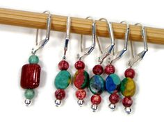 Locking Removable Stitch Markers #Crochet #knitting Beaded by TJBdesigns #handmade