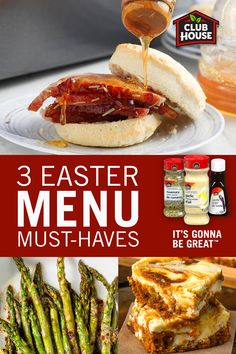 Step up your holiday lunch or dinner with these three Easter menu must-haves! Serve ham and asparagus as the main course, then finish with a delicious cheesecake dessert. It's Gonna Be Great.  Veggie Side Dishes, Vegetable Dishes, Side Dish Recipes, Carrot Recipes, Vegetable Recipes, Healthy Recipes, Easter Dinner Recipes, Holiday Recipes, Easter Lunch