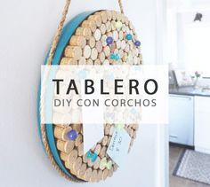 Crea un original tablero con corchos de vino #deco