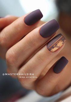 Dark Color Nails, Dark Nails, Gel Nails, Nail Polishes, Matte Nail Colors, Classy Nails, Fancy Nails, Stylish Nails, Elegant Nails