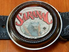 Saranac Black Bear Belt Buckle handcrafted by the Earth by BrewPaw, $28.99