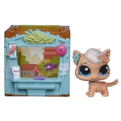 Littlest Pet Shop Mini Style Set with Meow Meow Milkone Figure