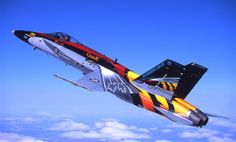 Royal Canadian Air Force CF-18 Hornet in 20 years of Canadian Hornet operations colours.