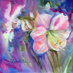 Out of the blue by Brenda Behr Watercolor ~ x Watercolors, Watercolor Paintings, Behr, Floral Watercolor, Drawings, Flowers, Art, Art Background, Water Colors