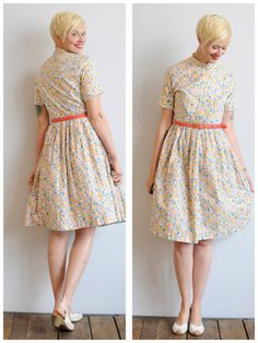 1950s Dress // Mosaic Print Dress // vintage by dethrosevintage, $68.00