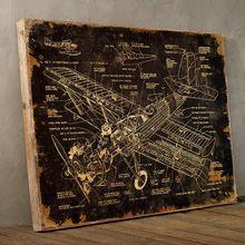 复古装饰画美式做旧木板画挂饰壁挂咖啡厅酒吧墙面创意装饰品