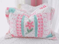 Sweet Pink Vintage Chenille Patchwork
