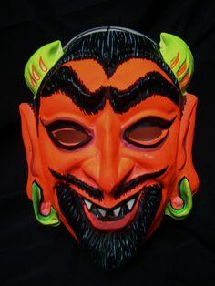 Vintage Halloween Mask, Devil
