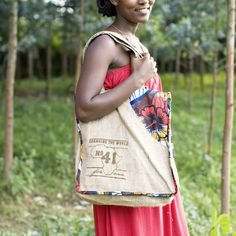 **ON SALE! Savvy shoppers can change the world, too!!  No.41 Signature Bags are handmade with love in Gisenyi, Rwanda. Your purchase not only provides a stable job and sustainable income to a young woman transitioning into a life of independence, and EVEN ON SALE, you are providing 180 meals to a secondar...