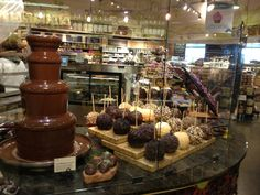 The sinfully enticing chocolate section of Whole Foods Market, Austin, TX