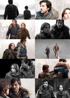 Jyn + Cassian, RebelCaptain, Rogue One, Star Wars - The distance between us