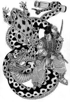 Jiraya and Orochimaru by Eino Laitinen