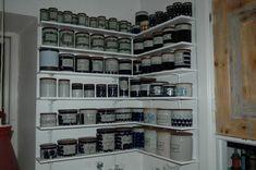 Monster collection of Marianne Westman-designed Rorstrand jars. Wine Rack, Jars, Bookcase, Shelves, Nice, Storage, Furniture, Collection, Design