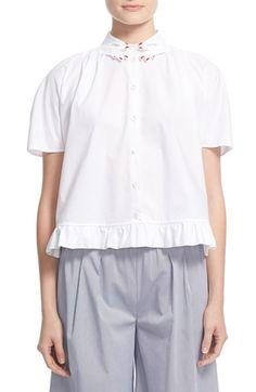 VIVETTA 'Karine' Hand Collar Cotton Blouse