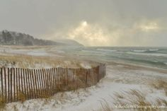 Lake Michigan ... winter squall. Ken Scott Photography
