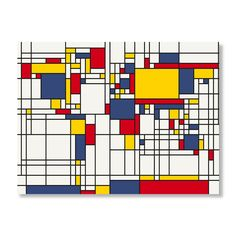 Mondrian World Map by Michael Tompsett Wall Art $54.99    This would make an epic stained glass window.