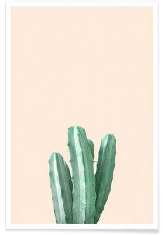 Pink Cactus als Premium Poster von Christoph Abatzis | JUNIQE